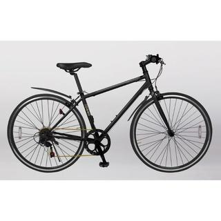 新品★送料無料 クロスバイク シマノ6段ギア 700×28c マットブラック(自転車本体)