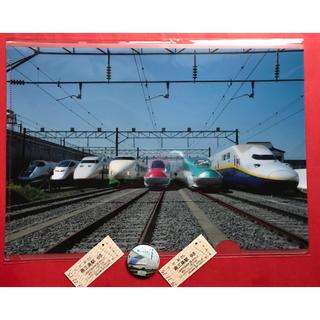 鉄道クリアファイル+ 記念切符2枚+ バッチ(鉄道)
