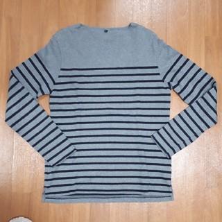 ムジルシリョウヒン(MUJI (無印良品))の無印良品 ボーダーカットソー XL(Tシャツ/カットソー(七分/長袖))