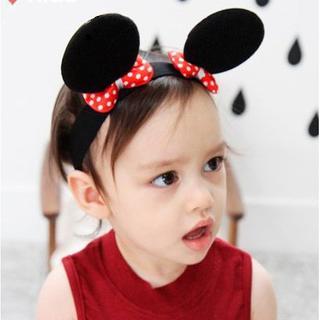 【You Mii】ミニーちゃんのような耳のヘアバンド なりきり コスプレ (赤×(衣装一式)