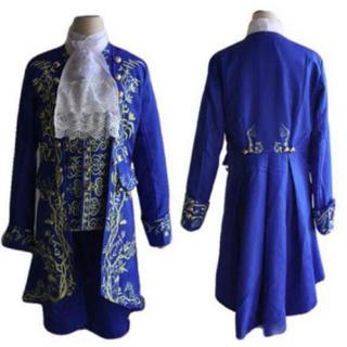 【高品質】美女と野獣 王子 紳士 貴族 スーツ コスチューム コスプレ 衣装(衣装一式)