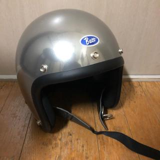 定価36000 buco スモールブコ ジェットヘル メタリックシルバー(ヘルメット/シールド)