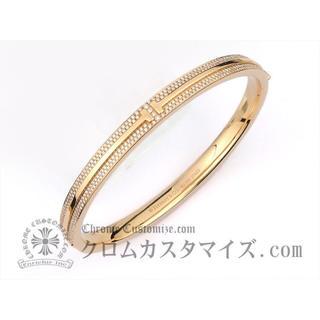 ティファニー(Tiffany & Co.)の新品 ティファニー TWOヒンジブレスレット ピンクゴールド アフターダイヤ(ブレスレット/バングル)