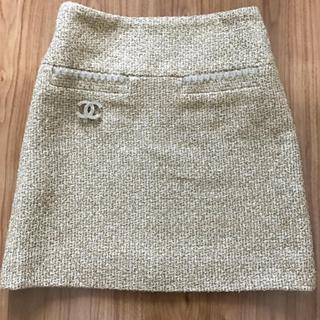 シャネル(CHANEL)の新品  CHANEL  ツイード  スカート(ミニスカート)