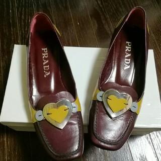 プラダ(PRADA)の⭐値下げ✨美品✨PRADA ハートローファー size35.5 送料無料(ローファー/革靴)