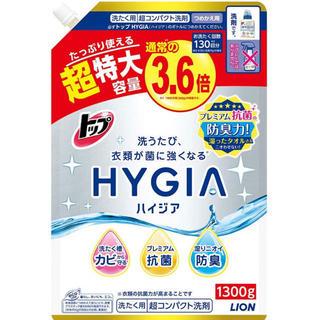 トップ ハイジア 洗濯洗剤 液体 詰め替え 超特大1300g(洗剤/柔軟剤)