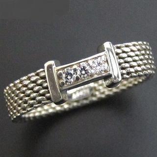 ティファニー(Tiffany & Co.)のTIFFANY&Co. SV925 ダイヤモンド サマセット リング 8.5号(リング(指輪))