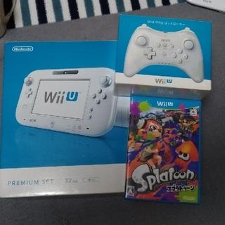 ウィーユー(Wii U)のWiiU 32G スプラトゥーンソフトとセット(家庭用ゲーム機本体)