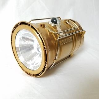 【新品】2WAY LED ランタン 変形 ライト 防災 災害対策 ゴールド(ライト/ランタン)