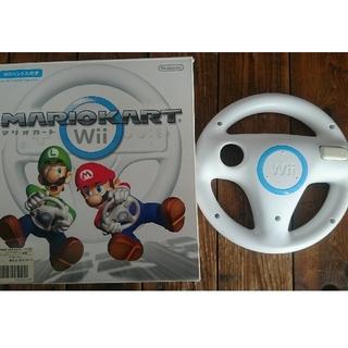 ウィー(Wii)の任天堂Wii マリオカートハンドル(家庭用ゲームソフト)