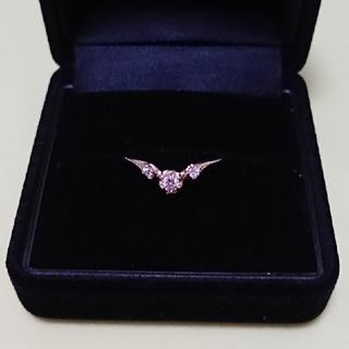 アッシュペーフランス(H.P.FRANCE)のtatsuo nagahata ダイヤモンド V字リング K10 YG #10(リング(指輪))