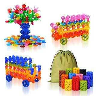 カラフル 知育玩具 立体ブロック (570ピース+タイヤ8)(知育玩具)