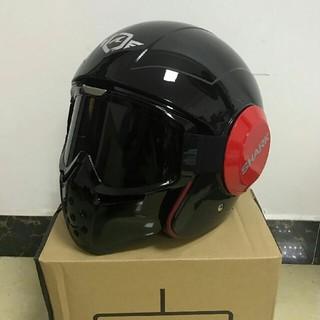 新品ブラックSHARK フルフェイスヘルメット バイクヘルメット(ヘルメット/シールド)