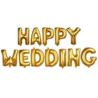 TB009 送料無料♪HAPPY WEDDING文字風船/結婚式に風船のみ(知育玩具)