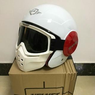 新品ホワイトSHARK フルフェイスヘルメット バイクヘルメット(ヘルメット/シールド)