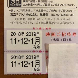 東京テアトル 株主優待2枚(その他)