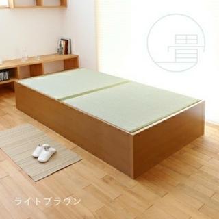 未使用 ユニット畳 大収納 セミダブル 畳ベッド(セミダブルベッド)