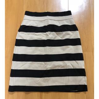 クチュールブローチ(Couture Brooch)の【couture brooch】ボーダースカート 約Mサイズ(ひざ丈スカート)