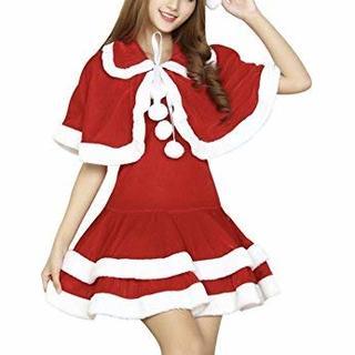クリスマス フード コスプレ コスチューム 衣装 クリスマスサンタ (衣装一式)