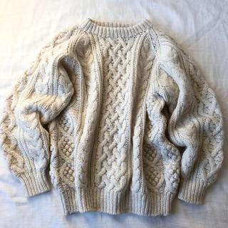 vintage fisherman knit sweater.