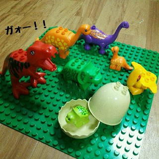 【恐竜セット・8点!】 アンパンマンブロックラボ レゴデュプロ互換品(積み木/ブロック)
