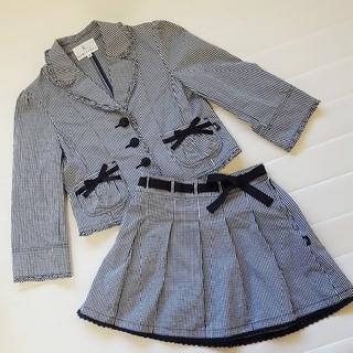 クミキョク(kumikyoku(組曲))の組曲 セットアップ 入学式 ワンピース チェック kids 110 120(ドレス/フォーマル)