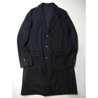 ラッドミュージシャン(LAD MUSICIAN)のstripe jersey chesterfield coat(チェスターコート)