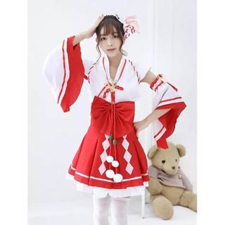 セール中【超可愛い】アイドル風 巫女 コスチューム コスプレ 衣装(衣装一式)