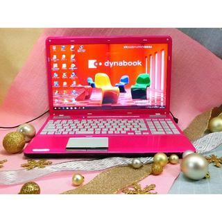 トウシバ(東芝)の綺麗で可愛い!キャンディピンクのパソコン(ノートPC)