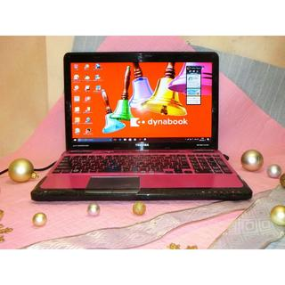 トウシバ(東芝)の綺麗で可愛い!ピンク/ブラックのパソコン(ノートPC)