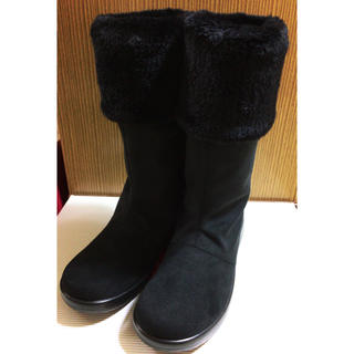 アサヒシューズ ロングブーツ ブラック 23.5cm TDY-3910