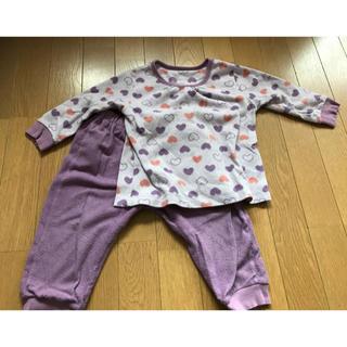 ユニクロ(UNIQLO)の女児90センチ パジャマ 上下セット(パジャマ)