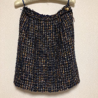 クミキョク(kumikyoku(組曲))のツイードスカート(ひざ丈スカート)