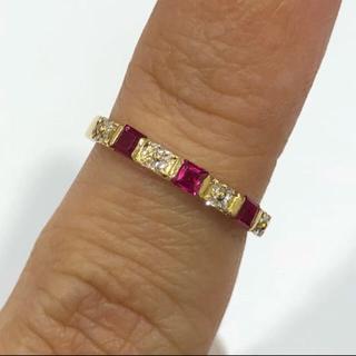 K18 ルビー ダイヤモンド リング (リング(指輪))