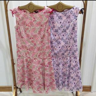トッカ(TOCCA)のTOCCA STRAW FLOWER ドレス .(ひざ丈ワンピース)