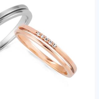 カナルヨンドシー(canal4℃)のcanal4°C ピンクゴールド ダイヤリング (リング(指輪))