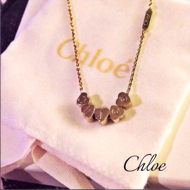 low priced 51553 8a90d chloe クロエ ネックレス ハート   フリマアプリ ラクマ