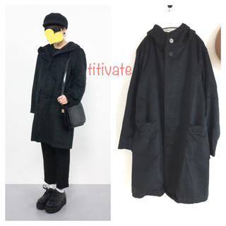 ティティベイト(titivate)の新品titivateフェイクモッサビッグフードコート(ロングコート)
