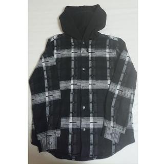 シュプリーム(Supreme)のSupreme Hooded Jacquard Flannel Shirt  (シャツ)