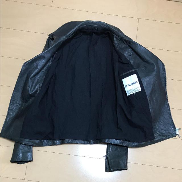 ATTACHIMENT(アタッチメント)のATTACHMENT  ダブルライダースジャケット メンズのジャケット/アウター(ライダースジャケット)の商品写真