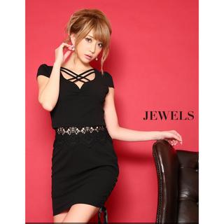 ジュエルズ(JEWELS)のJewels クロスカット ドレス(ミニドレス)
