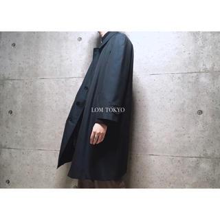 [used]'SANYO' navy bal collar coat.(ステンカラーコート)