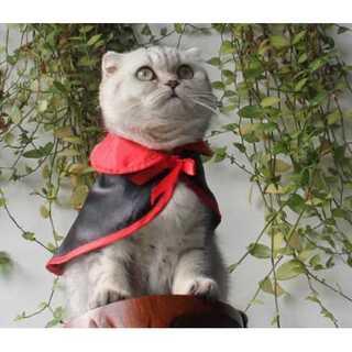 ハロウィン 犬 猫 ドラキュラ 吸血鬼 マント  コスプレ 犬用 猫用(猫)