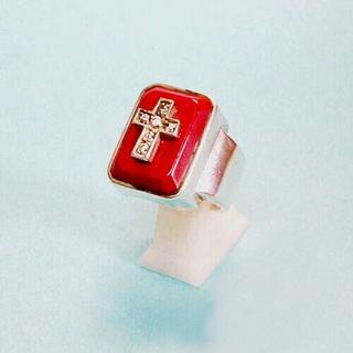 シルバー925製幻の赤のエミネムリング!(リング(指輪))