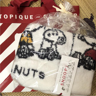 ジェラートピケ(gelato pique)の新品 スヌーピー ジャガード ブランケット ジェラートピケ 2018 クリスマス(その他)