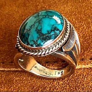 ドゥーズィエムクラス(DEUXIEME CLASSE)のナバホ族 Sheila Tso インディアンジュエリー ターコイズリング(リング(指輪))