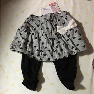 シマムラ(しまむら)のスカート パンツ 女の子 子供 赤ちゃん ベビー服 90 黒 ブラック グレー(スカート)