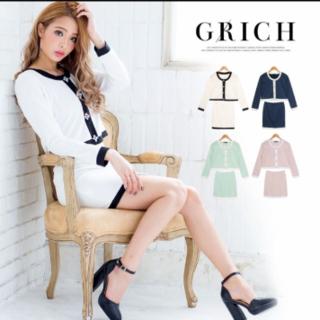 デイジーストア(dazzy store)のGrich セットアップ  ノーカラージャケット&ミニスカート バイカラーSET(セット/コーデ)