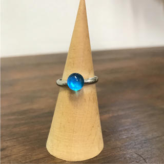 ブルーガラス 指輪 リング(リング(指輪))