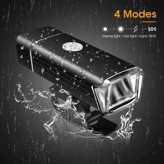 ◆IPX-4防水 自転車ライト USB充電式 テールライト付き 360°回転(パーツ)